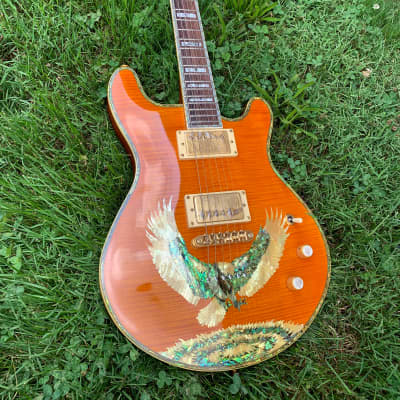 Miller American Eagle Limited Double Cutaway 1990s Amber MIK - Rare Find for sale