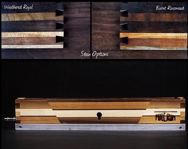 Fulcrum Flat Pedalboard Custom Reclaimed Hardwood