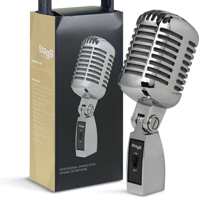 Stagg SDM100-CR 50's Style Dynamic Microphone Chrome plated steel.