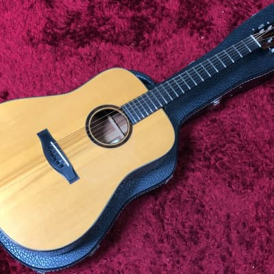 Super Rare Beauty Tony Vines Dreadnought Acoustic Guitar Hard Case Natural Used in Japan for sale