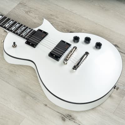 ESP USA Eclipse Guitar, Pearl White, EMG Pickups, Ebony Fretboard