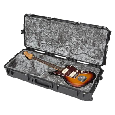 SKB iSeries Waterproof Hard Flight Case for Fender Jaguar/Jazzmaster Guitar