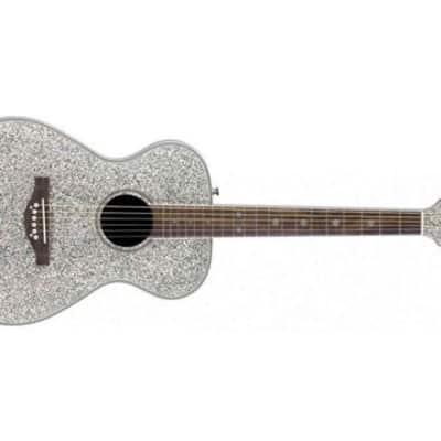 Daisy Rock Pixie Acoustic Guitar (Silver Sparkle) for sale