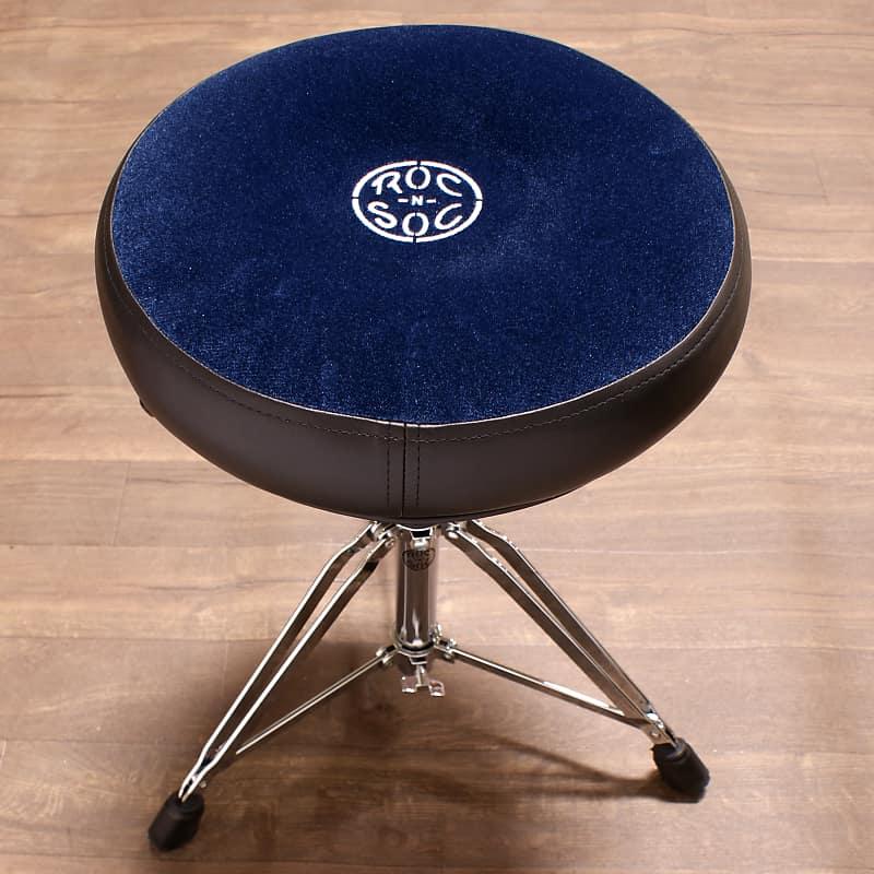 roc n soc drum throne nitro rider blue round seat reverb. Black Bedroom Furniture Sets. Home Design Ideas