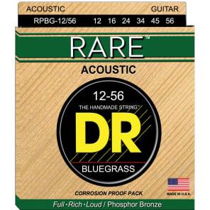 DR Strings RARE RPBG Bluegrass 12-56 Phosphor Bronze Acoustic Guitar Strings for sale