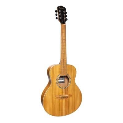 Martinez Left Handed Acoustic-Electric Short-Scale Guitar (Jati-Teakwood) for sale