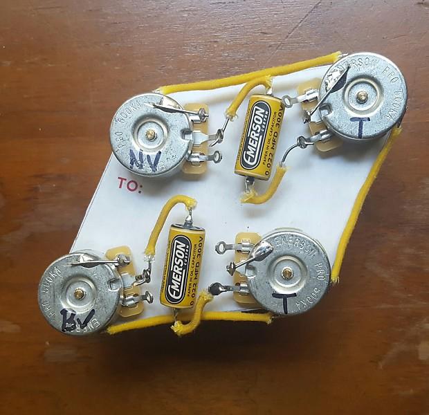 [SCHEMATICS_4FD]  Vintage Taper Les Paul Wiring Harness. Emerson Pro pots | Reverb | Vintage Les Paul Wiring Harness |  | Reverb