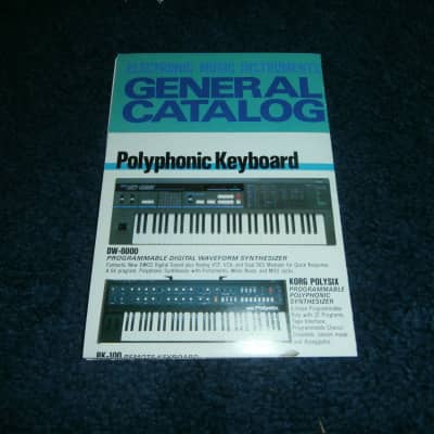 Vintage 1984 Korg General Catalog! DW-6000, Poly-800, CX-3, EPS-1!