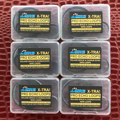 6 Roland Space Echo Tape Loops,  Standard 1 Meter Length, GRS X-TRA Brand, X-TRA Long Life, TL1m