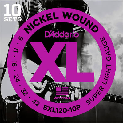 D'Addario EXL120 Super Light Guitar Strings 10-Pack