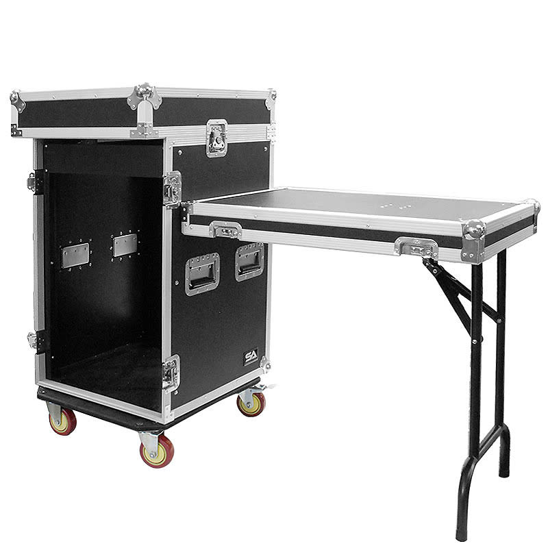 16 space rack case with 10 space slant mixer top and dj for Table 6 2 specification for highway works