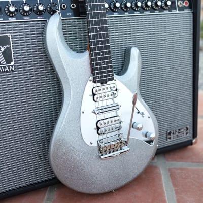 Ernie Ball Music Man BFR Silhouette HSH Guitar, Silver Flake Sparkle