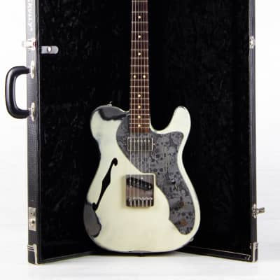 American Made Steel James Trussart Deluxe Steelcaster white