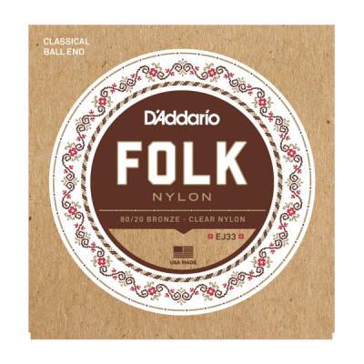 D'Addario EJ33 Folk Nylon Classical Guitar Strings