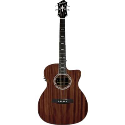 Hagstrom Mora II Series Acoustic Guitar Concert Mahogany w/ Pickup & Cutaway for sale