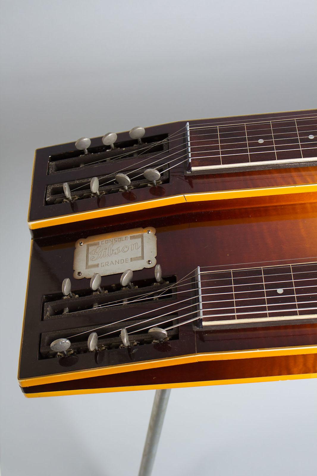 Gibson  Console Grand High Steel Electric Guitar (1940), ser. #F1552-6, original tweed hard shell case.
