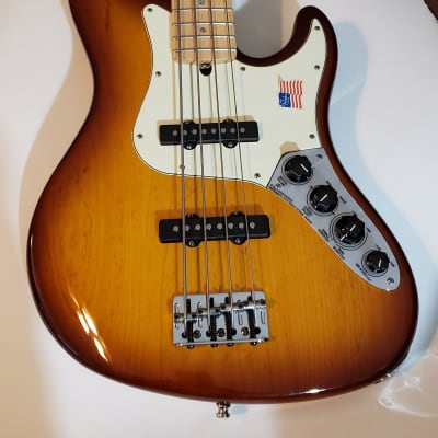 Fender American Deluxe Jazz Bass 2008 3-Color Sunburst for sale