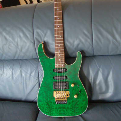 charvel san dimas IV 4 1995 transparent green for sale