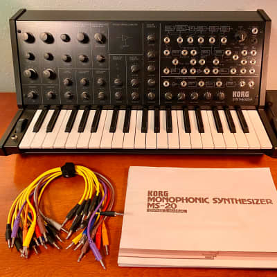 Korg MS-20 Mini Semi-Modular Analog Synthesizer with Manuals & Patch Cables