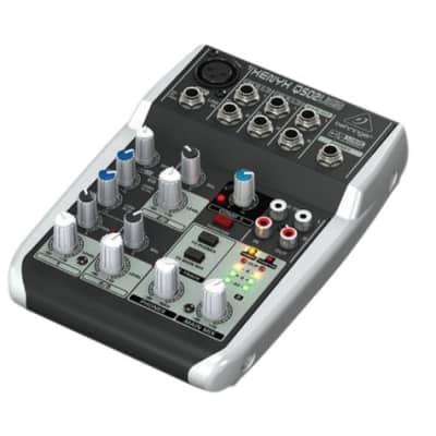 Behringer Xenyx Q502USB USB Audio Mixer Premium 5-Input 2-Bus Mixer