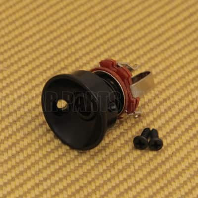 Aftermarket Guitar Black Socket Style Jack Plate & Jack for Tele® image