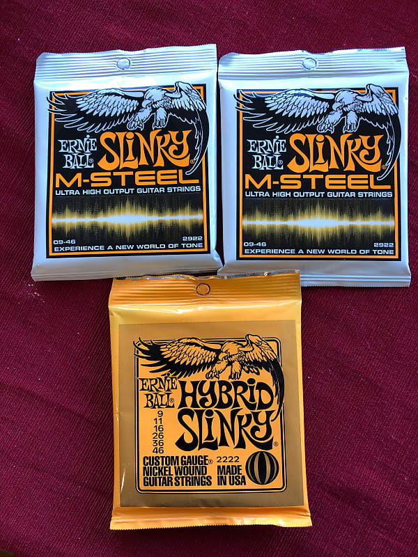Ernie Ball M-STEEL SLINKY Electric Guitar Strings