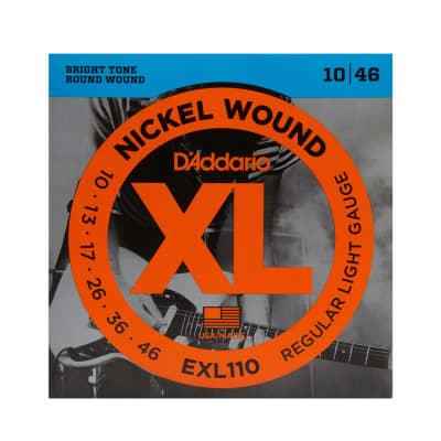 D'Addario EXL110 Nickel Wound Regular Light Electric Guitar Strings, .010 - .046