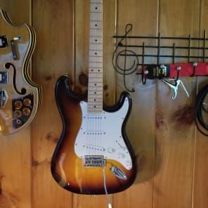 Indiana Stratocaster Style Guitar Tobacco Sunburst for sale