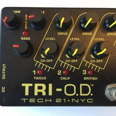 Tech 21 NYC Tri O.D. Overdrive 3-Channel OD Amp Simulator Guitar Effect Pedal