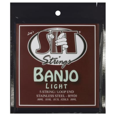 SIT Strings B5920 Light 5-String Banjo Stainless Steel Strings