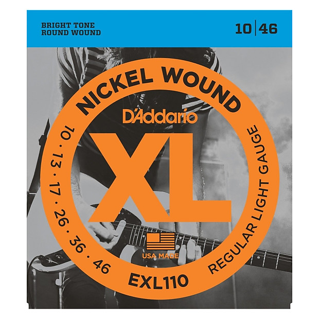 d 39 addario exl110 xl electric guitar strings regular reverb. Black Bedroom Furniture Sets. Home Design Ideas