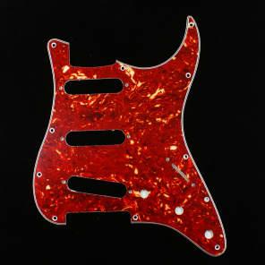 Custom Guitar Pickguard For Strat Standard ,4ply Red Tortoise