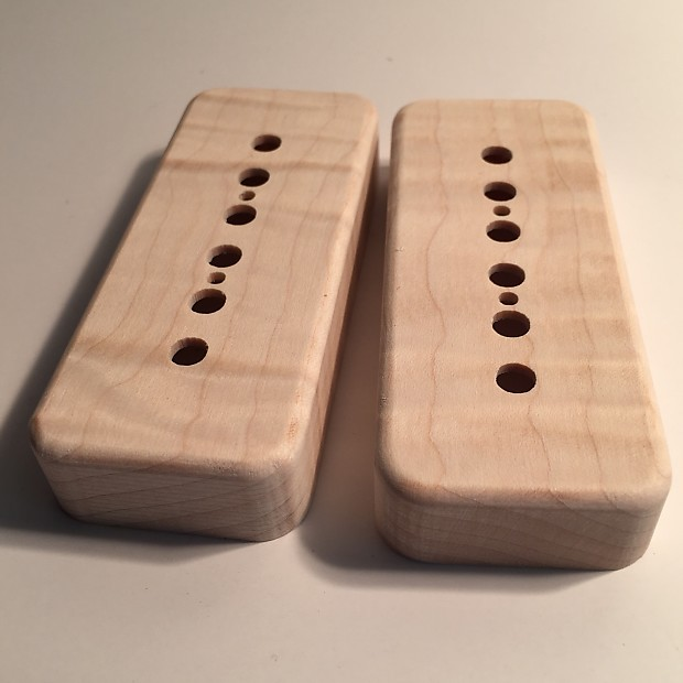 Guilford Flame Maple P-90 Pickup Cover for Gibson/Lollar pickups - 1 pair  Natural Wood
