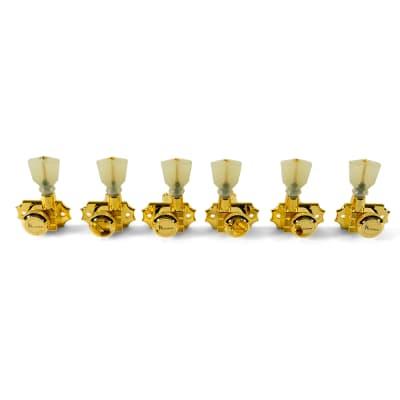 Kluson Revolution 3X3 Locking Tuners, Keystone Buttons - GOLD, KRGL-3-GP