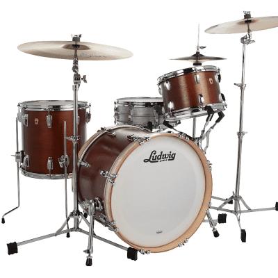 "Ludwig Legacy Mahogany Downbeat Outfit 8x12 / 14x14 / 14x20"" Drum Set"