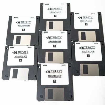 Korg Trinity Mega Pianos Playback Sampler Option TFD-1S (Disks 1-7) - Set