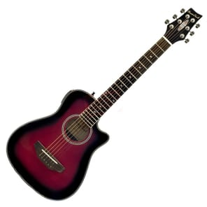 Beaver Creek BCRB501CERB Travel Size Acoustic/Electric Guitar (Redburst) Red for sale