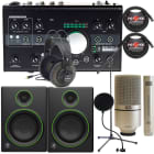 Mackie Big Knob -24 Bit 192 kHz, Audio/MIDI Interface + Mackie CR4 Monitors Recording Bundle image