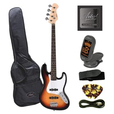 Artist JB2 Sunburst Electric Bass Guitar Plus Accessories for sale