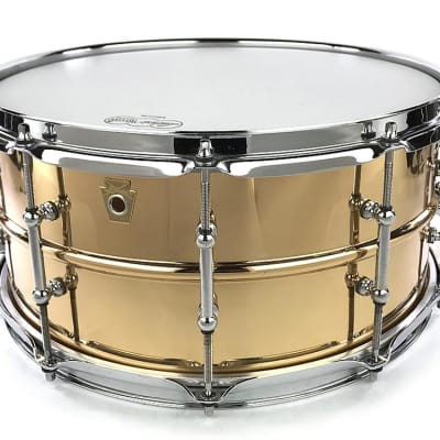 """Ludwig LB552T Bronze 6.5x14"""" Snare Drum with Tube Lugs"""