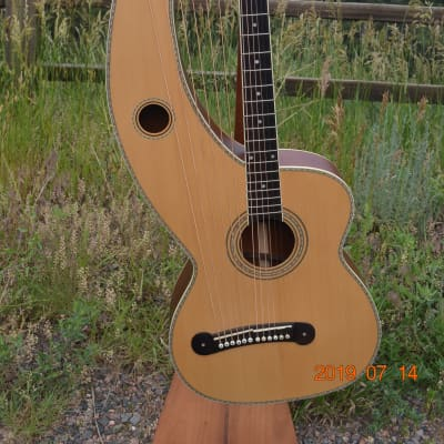 Holloway Model 5 Harp Guitar K&K pickup