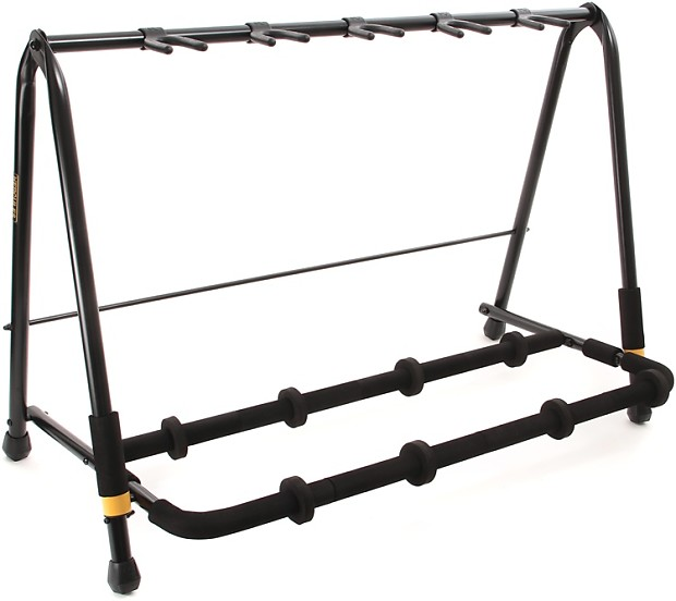 hercules stands gs525b 5 space guitar rack gearnuts reverb. Black Bedroom Furniture Sets. Home Design Ideas