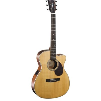 Cort L100-OC NS Luce Series Solid Spruce/Mahogany Orchestra Cutaway with Electronics Natural Satin