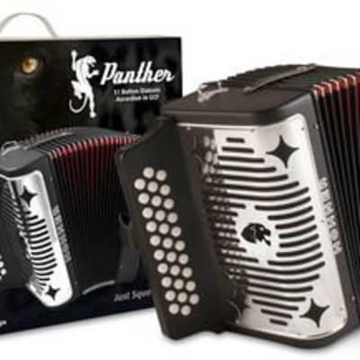 Hohner Panther 31 GCF Diatonic Button Accordion Black