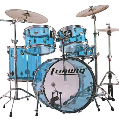 Ludwig Vistalite Reissue Big Beat Outfit 8x12 / 9x13 / 16x16 / 16x22 Drum Set