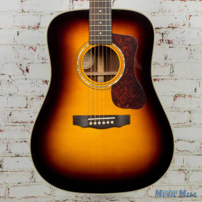 Guild D-140 Dreadnought Acoustic Guitar Antique Sunburst MSRP $1,115 for sale