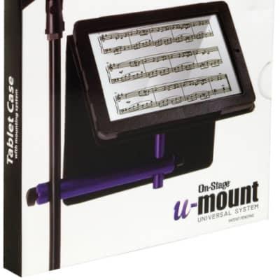 On-Stage TCM9150 Tablet Case with U-Mount, Black