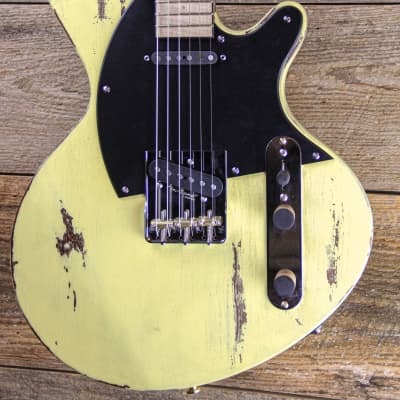 Liggett Abstract-T Select 2020 Canary Yellow Milk Finish w/Hardshell Case for sale