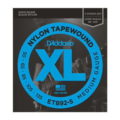 D'Addario ETB92-5 Nylon Tape Wound Bass Strings