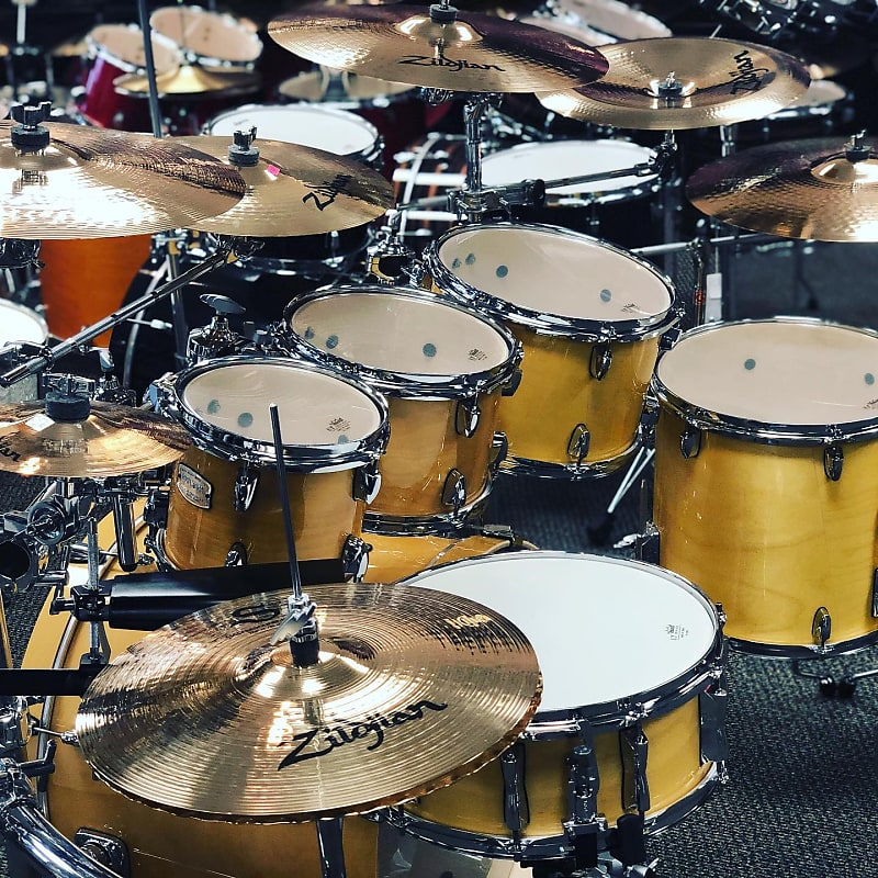 Yamaha Stage Custom 7pc Complete Drumset With Gibraltar